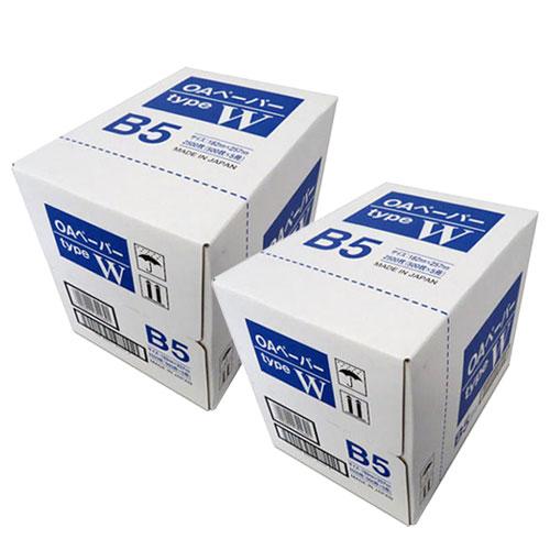 【送料無料】大王製紙 コピー用紙 OAペーパータイプW 5000枚 B5 2500枚 2箱【他商品と同時購入不可】