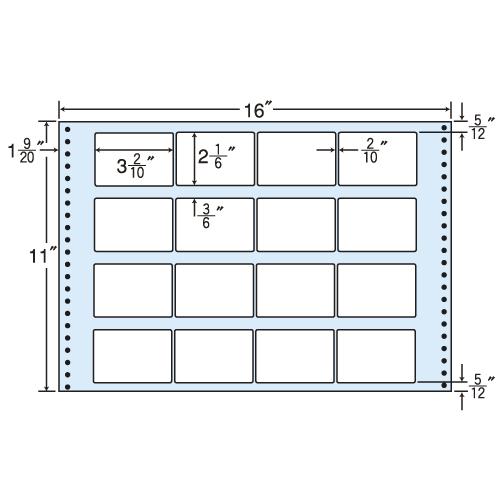東洋印刷 タックシール nana レギュラータイプ (連続ラベル) 500折 M16A