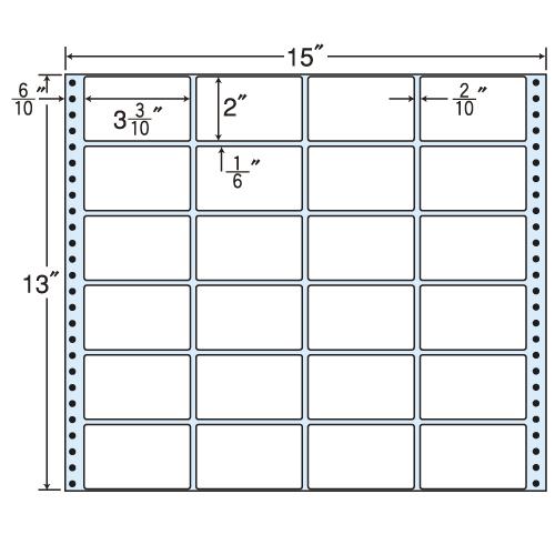 東洋印刷 タックシール nana レギュラータイプ (連続ラベル) 500折 M15S
