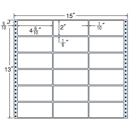 東洋印刷 タックシール nana レギュラーPDラベルタイプ (連続ラベル) 500折 M15A