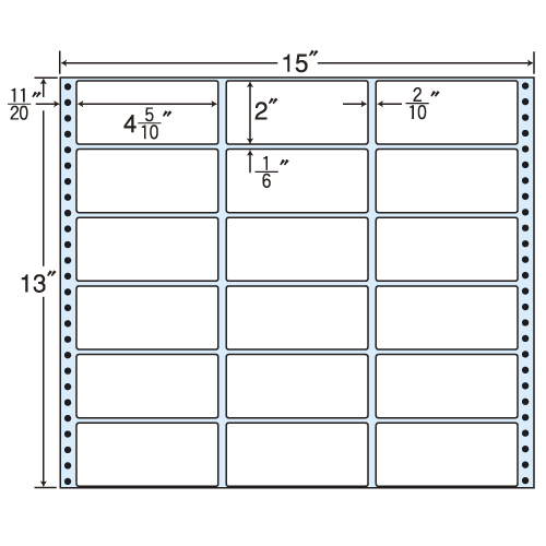 東洋印刷 タックシール nana レギュラータイプ (連続ラベル) 500折 MX15B