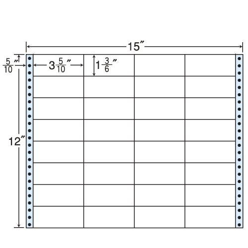 東洋印刷 タックシール nana レギュラータイプ (連続ラベル) 500折 MH15L