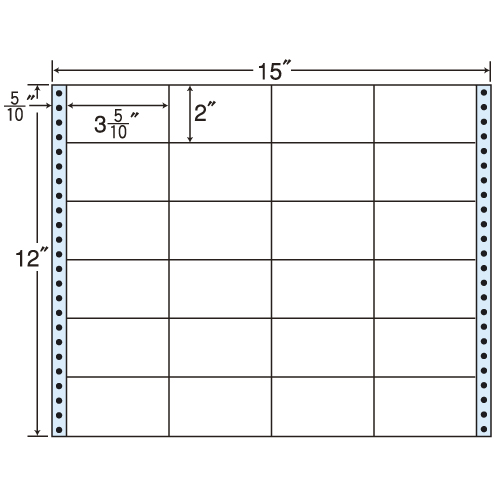 東洋印刷 タックシール nana レギュラータイプ (連続ラベル) 500折 M15W