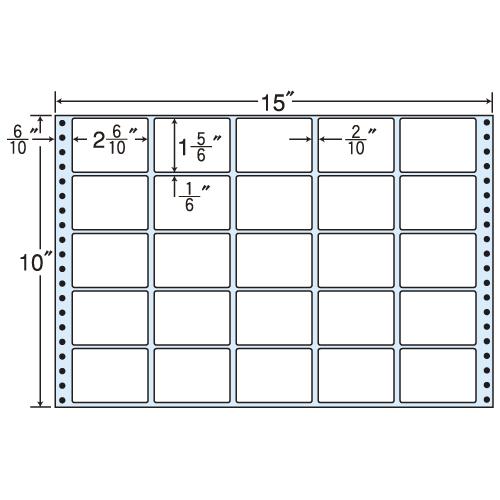 東洋印刷 タックシール nana レギュラータイプ (連続ラベル) 500折 MT15A