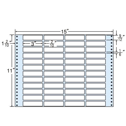 東洋印刷 タックシール nana レギュラータイプ (連続ラベル) 500折 M15K