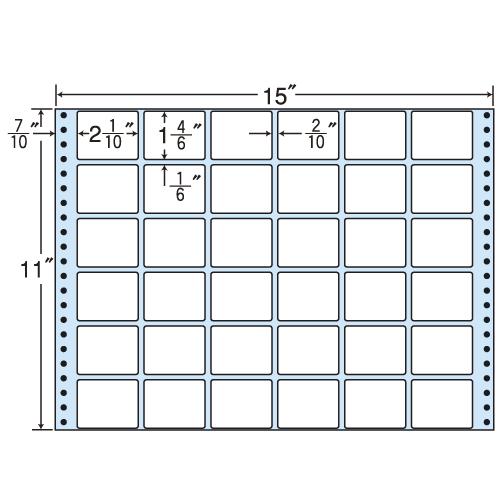 東洋印刷 タックシール nana レギュラータイプ (連続ラベル) 500折 MH15i