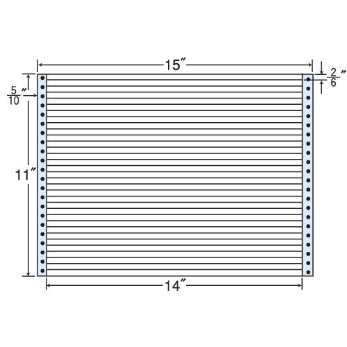 東洋印刷 タックシール nana レギュラータイプ (連続ラベル) 500折 M15L