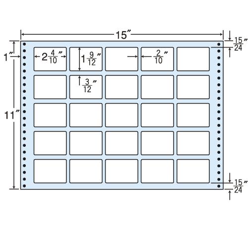 東洋印刷 タックシール nana レギュラータイプ (連続ラベル) 500折 M15Z
