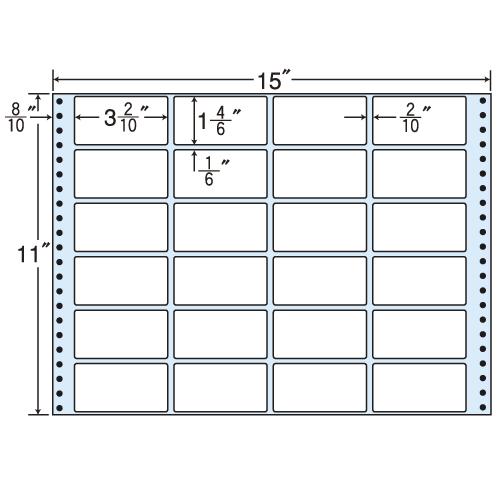 東洋印刷 Oタックシール nana レギュラータイプ (連続ラベル) 500折 M15