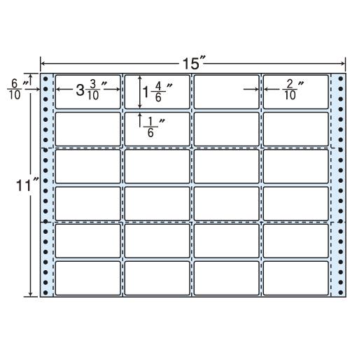 東洋印刷 タックシール nana レギュラータイプ (連続ラベル) 500折 MH15W