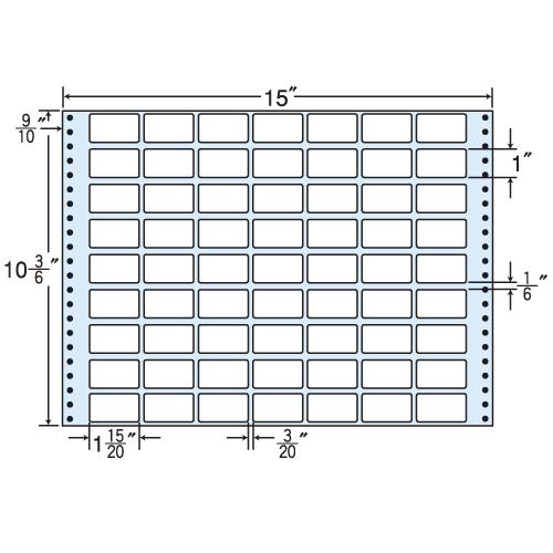 東洋印刷 タックシール nana レギュラータイプ (連続ラベル) 500折 MH15V