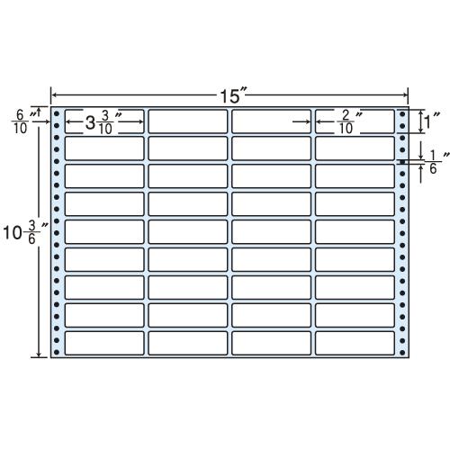 東洋印刷 タックシール nana レギュラータイプ (連続ラベル) 500折 MX15D