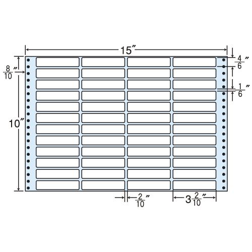 東洋印刷 タックシール nana レギュラータイプ (連続ラベル) 500折 MX15X