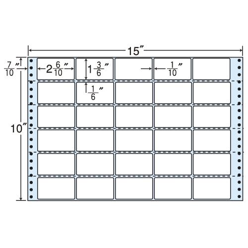 東洋印刷 タックシール nana レギュラータイプ (連続ラベル) 500折 MX15P