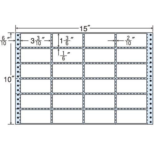 東洋印刷 タックシール nana レギュラータイプ (連続ラベル) 500折 M15D