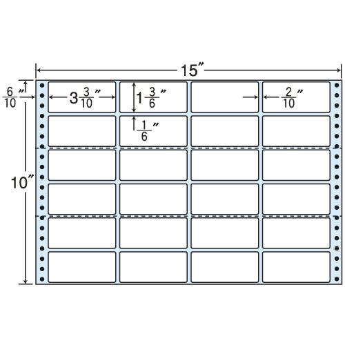 東洋印刷 タックシール nana レギュラータイプ (連続ラベル) 500折 MH15C