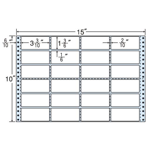 東洋印刷 タックシール nana レギュラータイプ (連続ラベル) 500折 MH15F