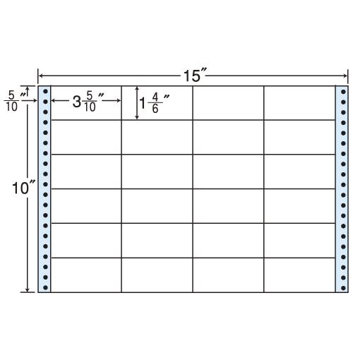 東洋印刷 タックシール nana レギュラータイプ (連続ラベル) 500折 M15N