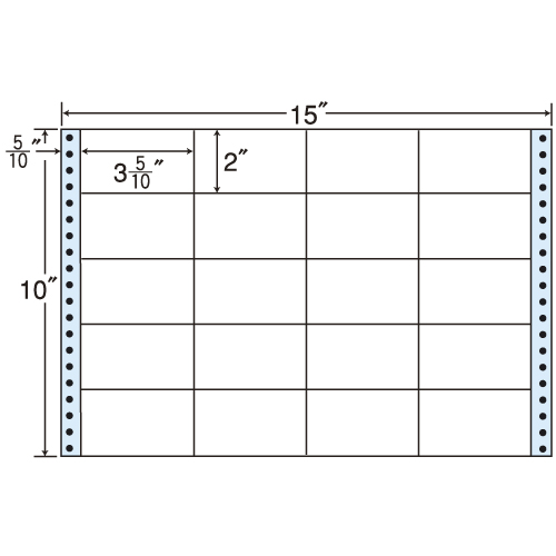 東洋印刷 タックシール nana レギュラータイプ (連続ラベル) 500折 M15U
