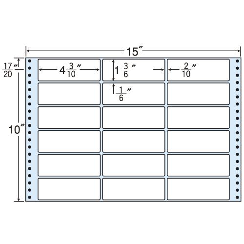 東洋印刷 タックシール nana レギュラータイプ (連続ラベル) 500折 MH15U