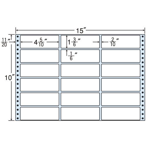 東洋印刷 タックシール nana レギュラータイプ (連続ラベル) 500折 MX15F