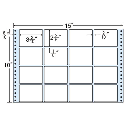 東洋印刷 タックシール nana レギュラータイプ (連続ラベル) 500折 M15Q