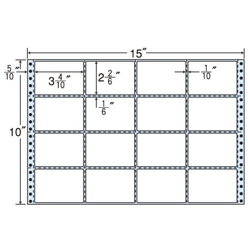 東洋印刷 タックシール nana レギュラータイプ (連続ラベル) 500折 MT15K