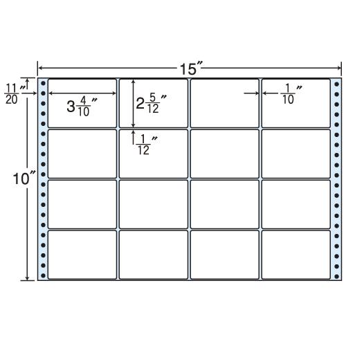 東洋印刷 タックシール nana レギュラータイプ (連続ラベル) 500折 MX15E