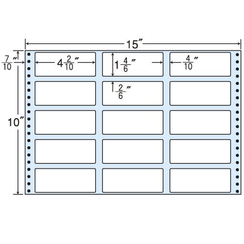 東洋印刷 タックシール nana レギュラータイプ (連続ラベル) 500折 MT15C