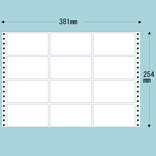 東洋印刷 タックシール nana レギュラータイプ (連続ラベル) 500折 M15C