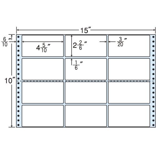東洋印刷 タックシール nana レギュラータイプ (連続ラベル) 500折 M15M