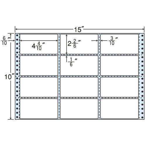 東洋印刷 タックシール nana レギュラータイプ (連続ラベル) 500折 MH15A