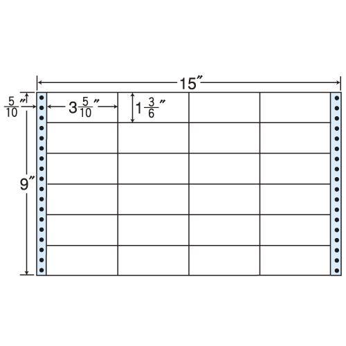 東洋印刷 タックシール nana レギュラータイプ (連続ラベル) 500折 M15H