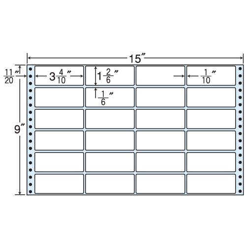 東洋印刷 タックシール nana レギュラータイプ (連続ラベル) 500折 MX15H