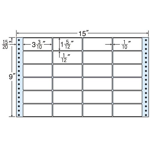 東洋印刷 タックシール nana レギュラータイプ (連続ラベル) 500折 MT15Z