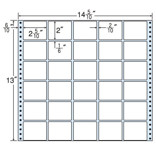東洋印刷 タックシール nana レギュラータイプ (連続ラベル) 500折 MH14D