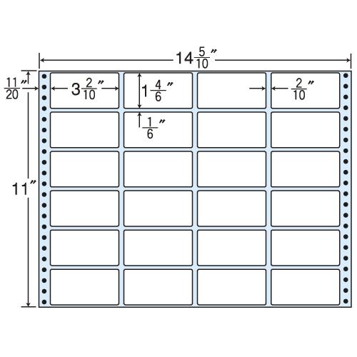 東洋印刷 タックシール nana レギュラータイプ (連続ラベル) 500折 M14Q