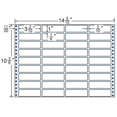 東洋印刷 タックシール nana レギュラータイプ (連続ラベル) 500折 MT14Z
