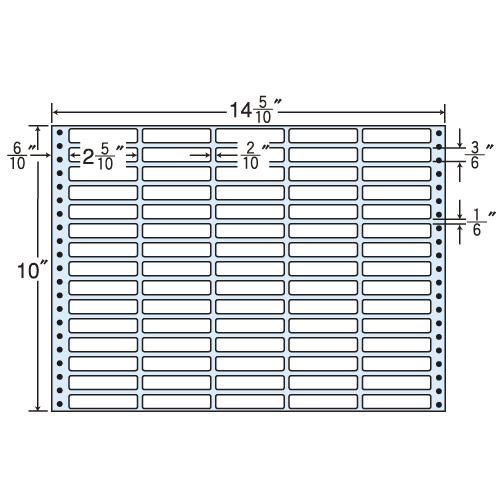 東洋印刷 タックシール nana レギュラータイプ (連続ラベル) 500折 MX14U