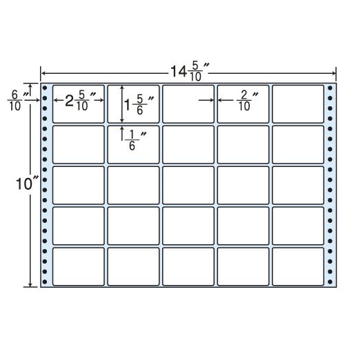 東洋印刷 タックシール nana レギュラータイプ (連続ラベル) 500折 MH14E