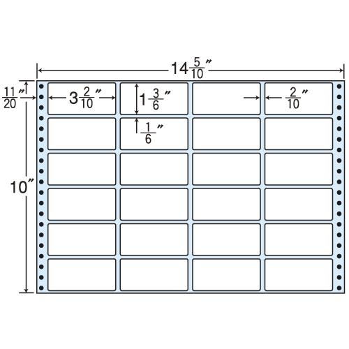東洋印刷 タックシール nana レギュラータイプ (連続ラベル) 500折 MT14M