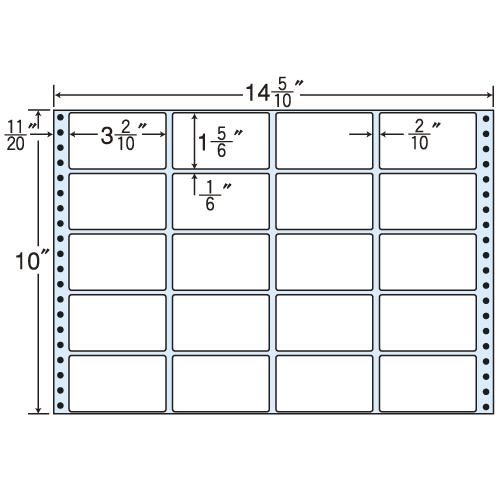東洋印刷 タックシール nana レギュラータイプ (連続ラベル) 500折 M14Z