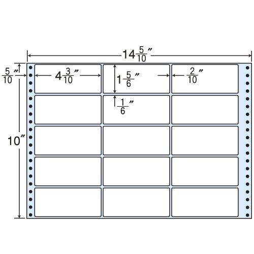 東洋印刷 タックシール nana レギュラータイプ (連続ラベル) 500折 M14R