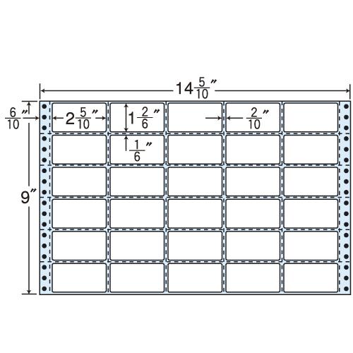 東洋印刷 タックシール nana レギュラータイプ (連続ラベル) 500折 M14J