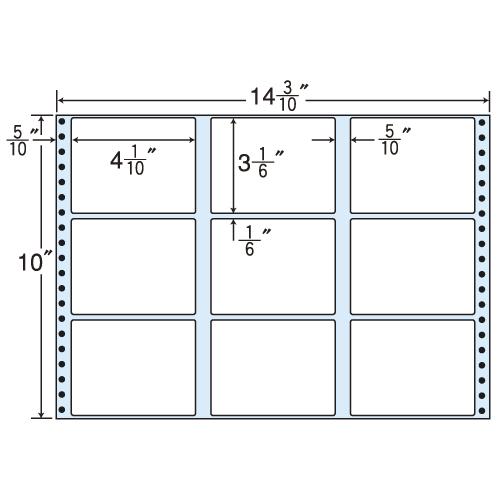 東洋印刷 タックシール nana レギュラータイプ (連続ラベル) 500折 M14V