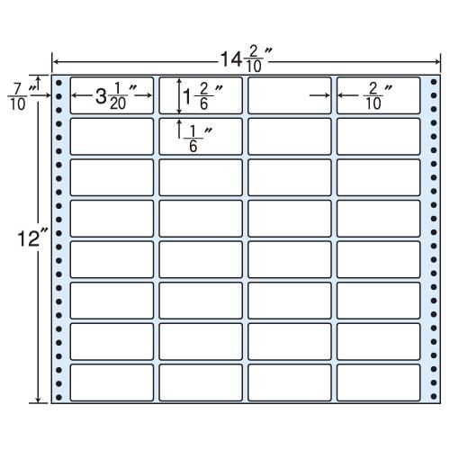 東洋印刷 タックシール nana レギュラータイプ (連続ラベル) 500折 MX14M
