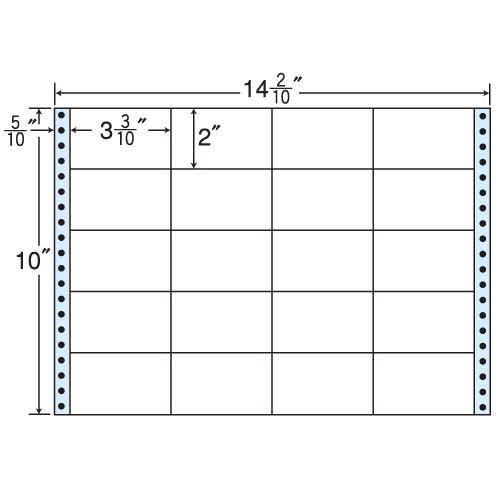 東洋印刷 タックシール nana レギュラータイプ (連続ラベル) 500折 M14D
