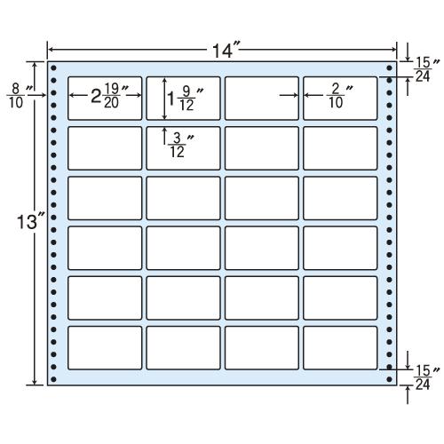 東洋印刷 タックシール nana レギュラータイプ (連続ラベル) 500折 M14H