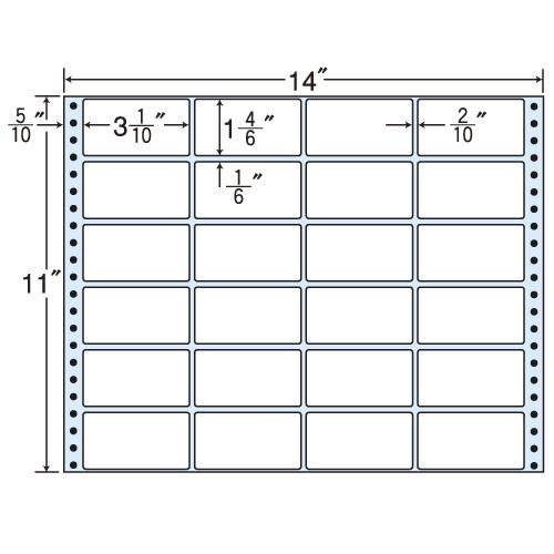 東洋印刷 タックシール nana レギュラータイプ (連続ラベル) 500折 MT14N