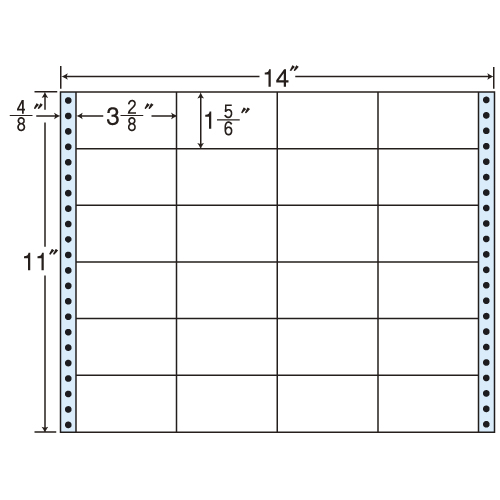 東洋印刷 タックシール nana レギュラータイプ (連続ラベル) 500折 MX14B